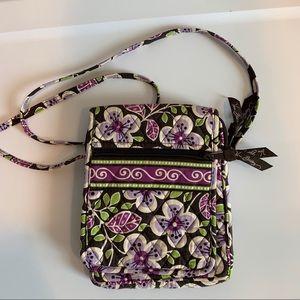 ❤️ Vera Bradley plum petals quilted crossbody bag